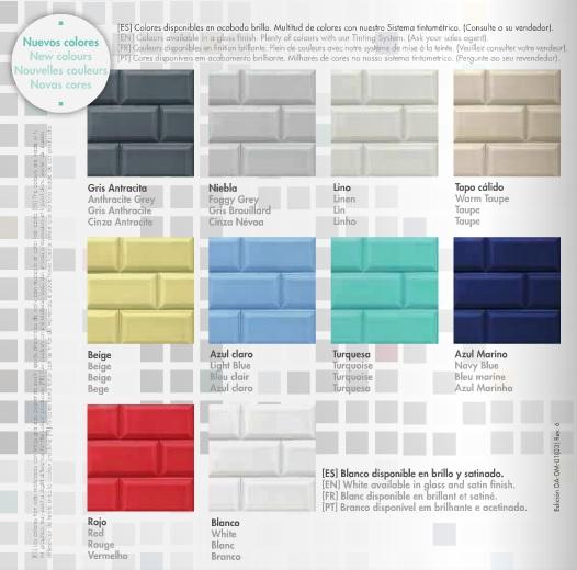 Blatemlux azulejos chayfer tu tienda pinturas online for Pintura azulejos colores